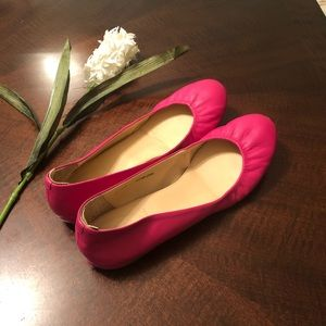 J . Crew pink flat shoes size 10 Good condition 🎈